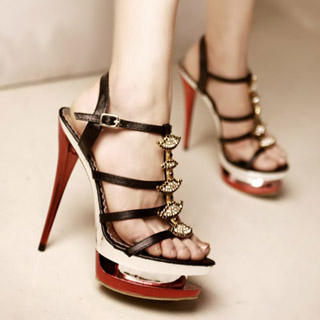 Buy Kvoll Rhinestone Platform Sandals 1022892151