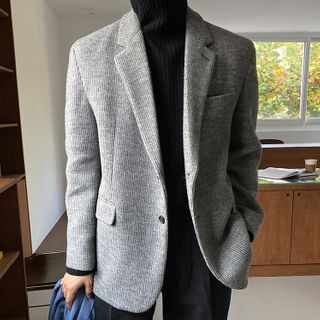 Single-breasted Knit Blazer