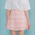 Plaid Pleated Mini Skirt 1596