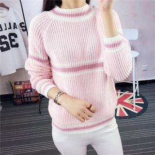 Striped Ribbed Sweater 1057058642