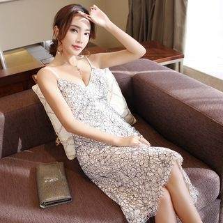 Spaghetti Strap Lace Dress 1064703480