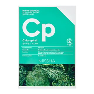 Phyto-Chemical Skin Supplement Sheet Mask (Chlorophyll) 1pc