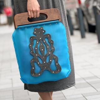 Butterfly Handbag Blue, Dark Gray - One Size 1030768877