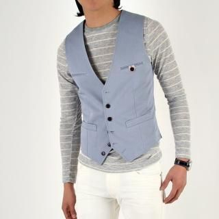 Buy IRONB Linen Vest 1022942077