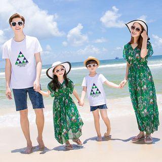 Short-sleeve | T-Shirt | Family | Beach | Denim | Short | Dress