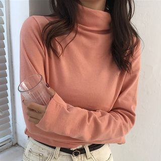 Long-Sleeve Mock-Neck T-Shirt 1064071977