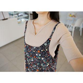 Short-Sleeve Ribbed T-Shirt 1057570516