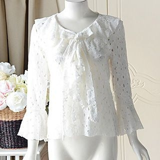 lace-bell-sleeve-blouse