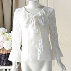 Lace Bell-Sleeve Blouse 1596