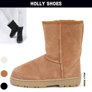Buy Holly Shoes Fur Lined Suede Ankle Boots 1021918826