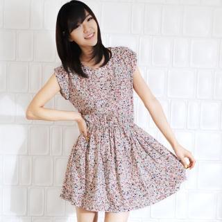 Buy Miss Hong Patterned Dress 1022476738