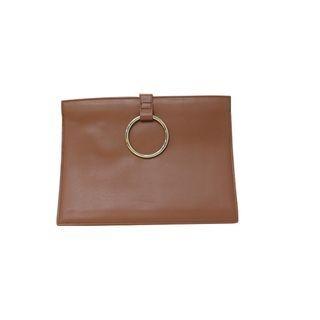 Hoop-Accent Zipped Clutch 1053733872