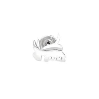 925 Sterling Silver Polished Finish Dog Stud Single Earring - United states