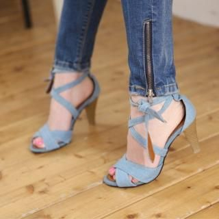 Buy PAUL ANNE Denim Strap Sandals 1022531951