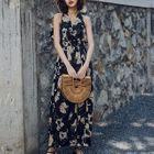 Sleeveless Floral Ruffled Dress 1596