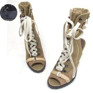 Picture of Woorisin Open-Toe Buckle-Detail Ankle Boots 1021550502 (Boots, Woorisin Shoes, Korea Shoes, Womens Shoes, Womens Boots)