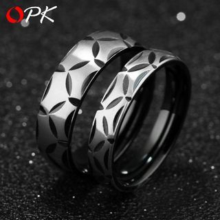 Couple Matching Titanium Steel Ring
