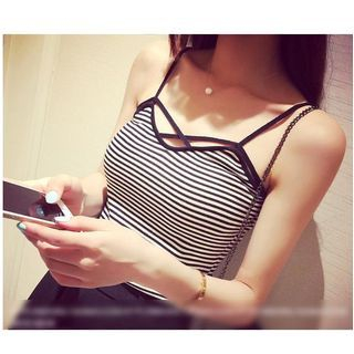 Strappy Knit Top 1048995717