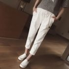 Drawstring Waist Cropped Pants от YesStyle.com INT