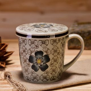 Floral Print Cup with Lid 1055837440