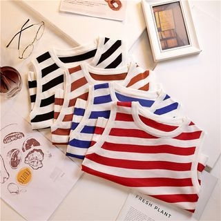 Striped Sleeveless Top 1067809904