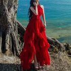 Sleeveless Ruffled Maxi Dress 1596