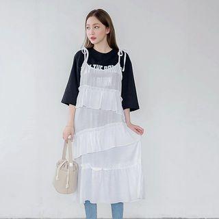 Spaghetti-Strap Tiered A-Line Dress 1059468160
