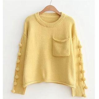 Fringe Trim Sweater 1062125375