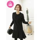 Brushed-Fleece Frilled Dress 1596