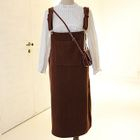 Woolen Midi Pinafore Dress 1596
