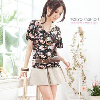 Buy Tokyo Fashion Bow-Back Pleated Skort 1022911361