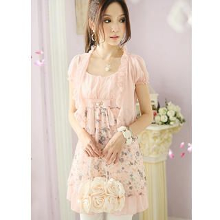 Buy Tokyo Fashion Set: Chiffon Bolero + Floral Print Sundress 1022911813