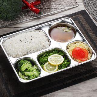Stainless Steel Divided Dinner Plate / Set