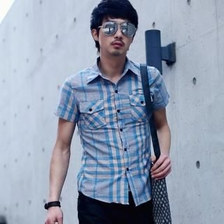 Picture of BLUE HOMME Check Shirt 1022756368 (BLUE HOMME, Mens Shirts, Korea)