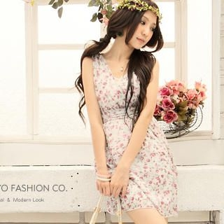 Buy Tokyo Fashion Floral Print Empire Sundress 1022882690