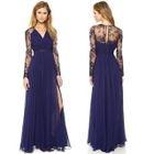 Lace-Panel Maxi Dress 1596