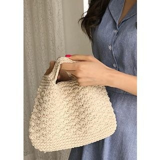 Slit-Handle Mini Crochet Tote 1066560237