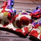 Set: Floral Print Seamless Bra + Panties 1596