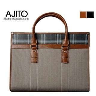 Picture of AJITO Canvas Briefcase 1023042970 (AJITO, Briefcases, Korea Bags, Mens Bags, Mens Briefcases)