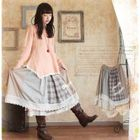 Lace-Hem Panel Skirt 1596