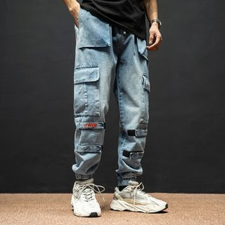 Image of Adhesive Tabs Cargo Jogger Jeans