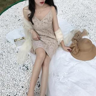 Spaghetti Strap Lace Dress 1060401324