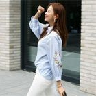 Image of Floral Embroidered Shirt