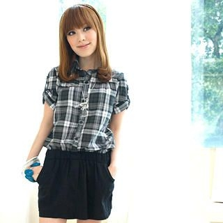 Buy Tokyo Fashion Mock Two-Piece Plaid Dress 1022744669