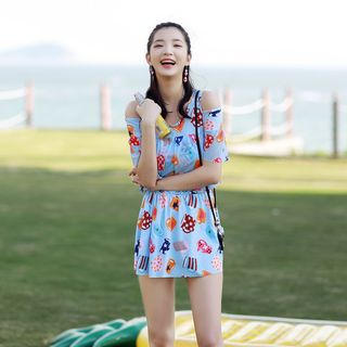 Cutout Printed Swimsuit 1061113492