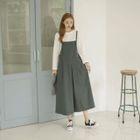 Wide-Leg Cotton Jumper Pants 1596