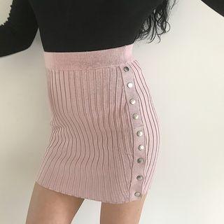 Ribbed Knit Skirt 1063508601