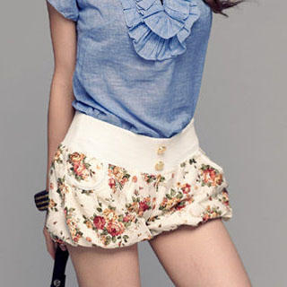 Buy PUFFY Floral Print Shorts 1022890239