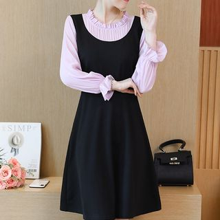 Image of A-Line Dress / 3/4-Sleeve Top
