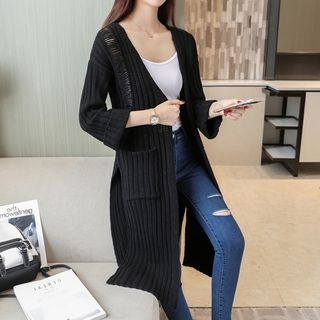 Ribbed Long Cardigan 1062975568